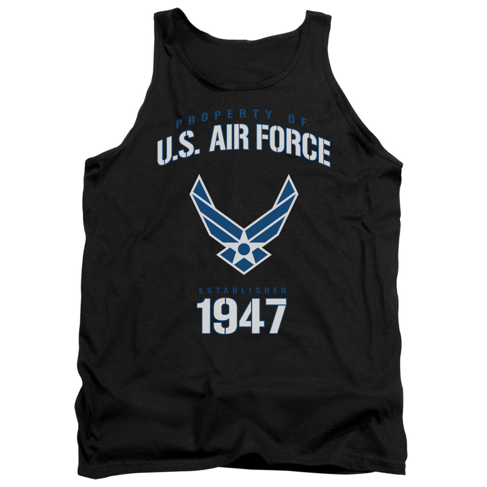 AIR FORCE/PROPERTY OF-ADULT TANK-BLACK