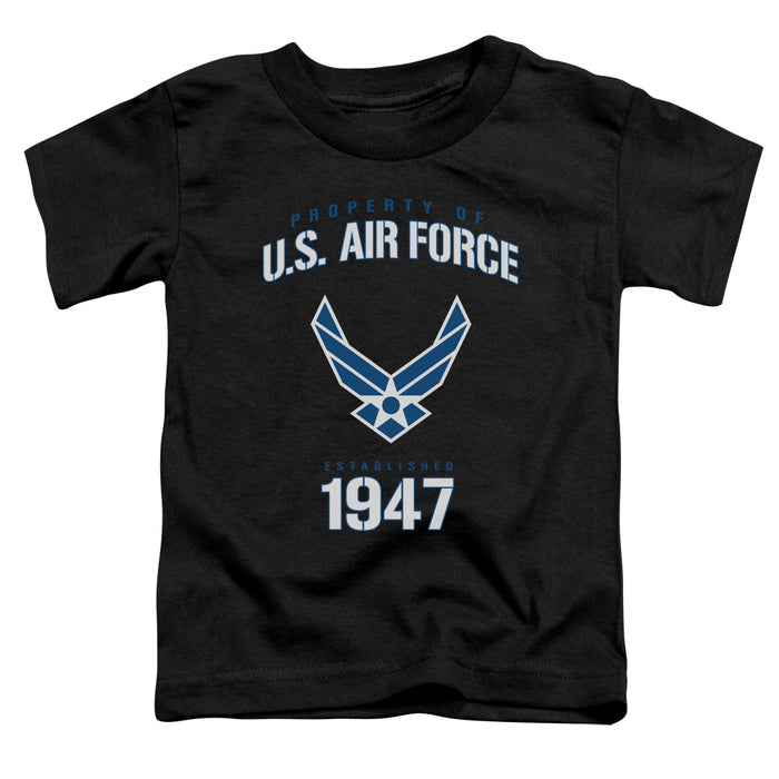 AIR FORCE/PROPERTY OF-S/S TODDLER TEE-BLACK