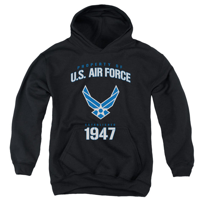 AIR FORCE/PROPERTY OF-YOUTH PULL-OVER HOODIE - BLACK