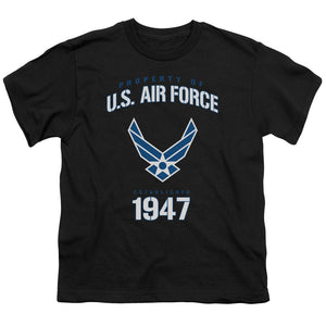 AIR FORCE/PROPERTY OF-S/S YOUTH 18/1-BLACK