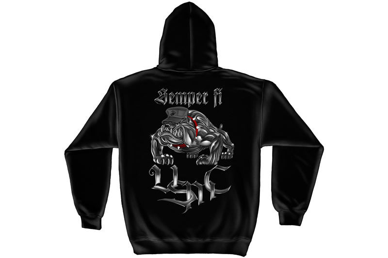 Chrome dog Sempri fi Hooded Sweatshirt
