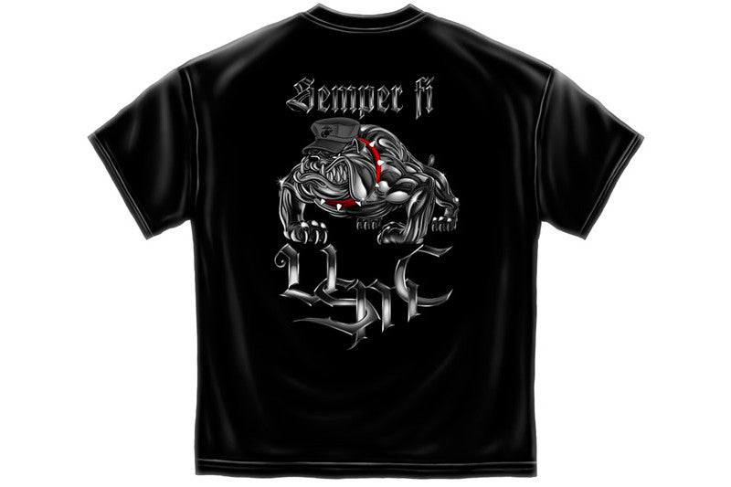 Chrome dog Sempri fi Short Sleeve T Shirt