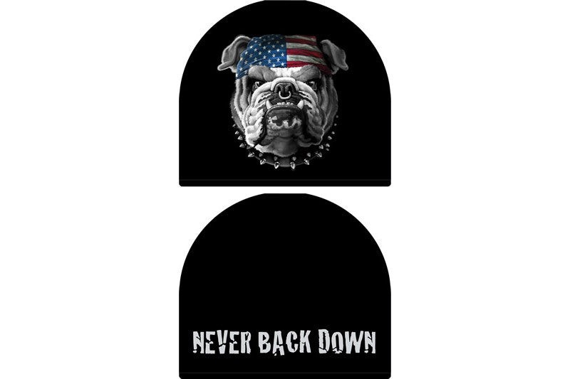 NEVER BACK DOWN BEANIE
