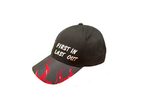 FIRST IN LAST OUT FIREFIGHTER CAP