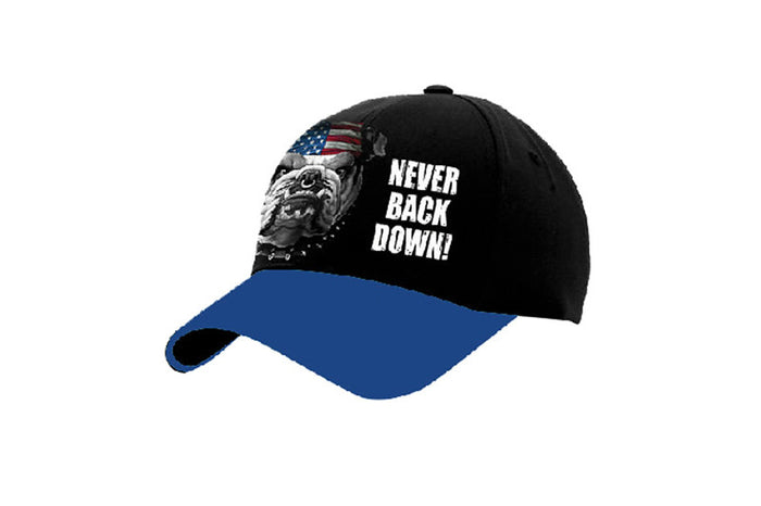 NEVER BACK DOWN CAP
