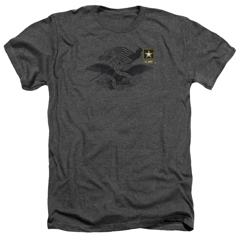 ARMY/LEFT CHEST - ADULT HEATHER - CHARCOAL