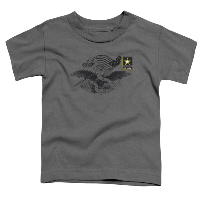 ARMY/LEFT CHEST - S/S TODDLER TEE - CHARCOAL