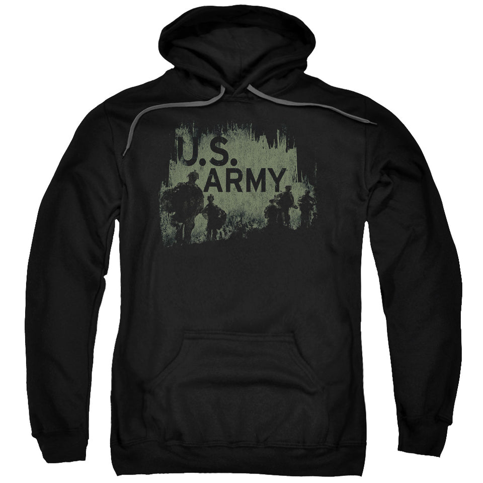 ARMY/SOLDIERS-ADULT PULL-OVER HOODIE-BLACK