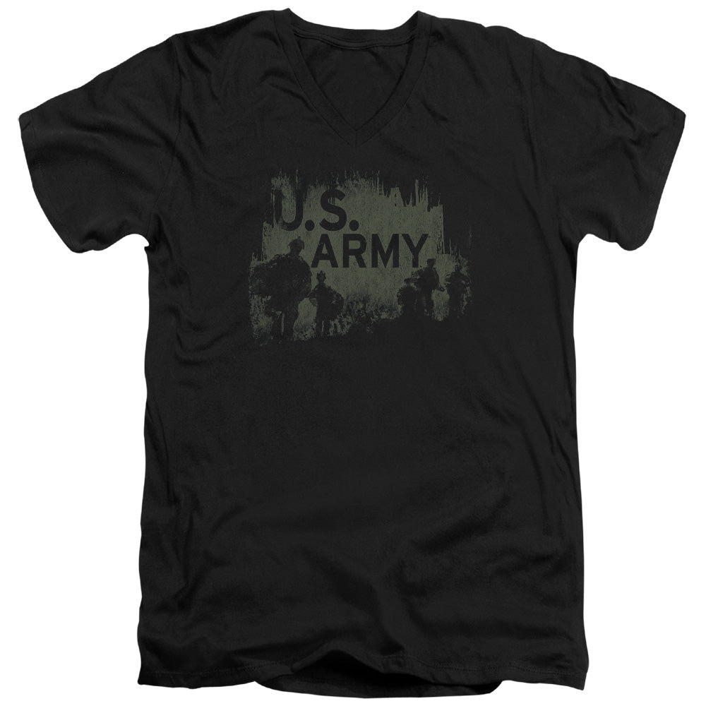 ARMY/SOLDIERS - S/S ADULT V-NECK 30/1 - BLACK