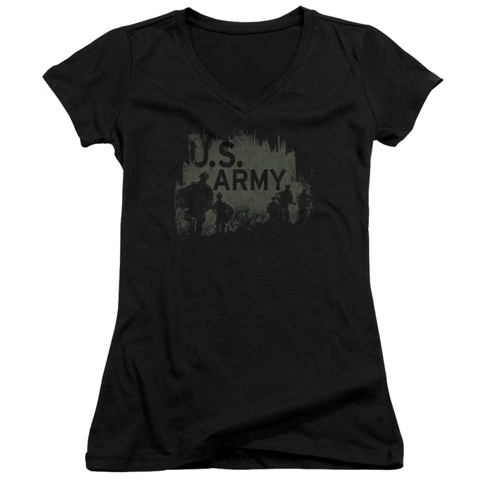 ARMY/SOLDIERS - JUNIOR V-NECK - BLACK