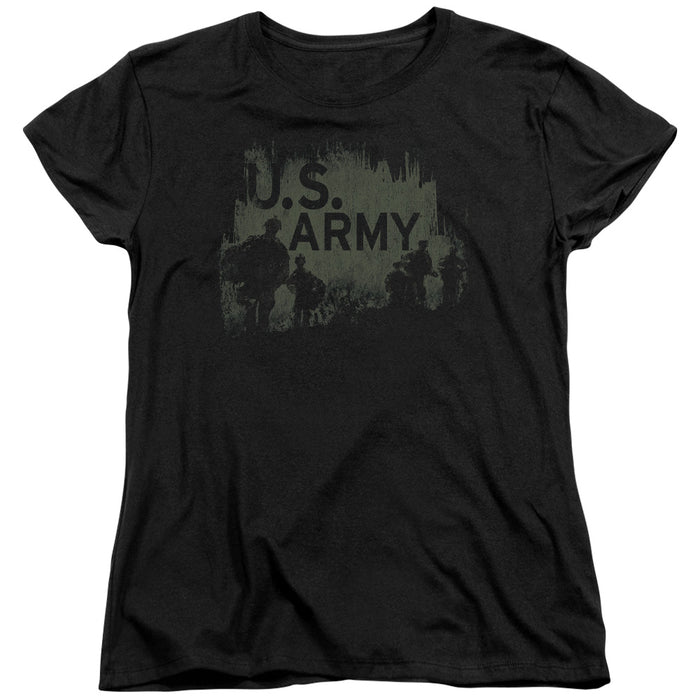 ARMY/SOLDIERS - S/S WOMENS TEE - BLACK
