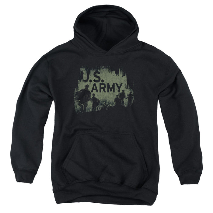 ARMY/SOLDIERS-YOUTH PULL-OVER HOODIE - BLACK