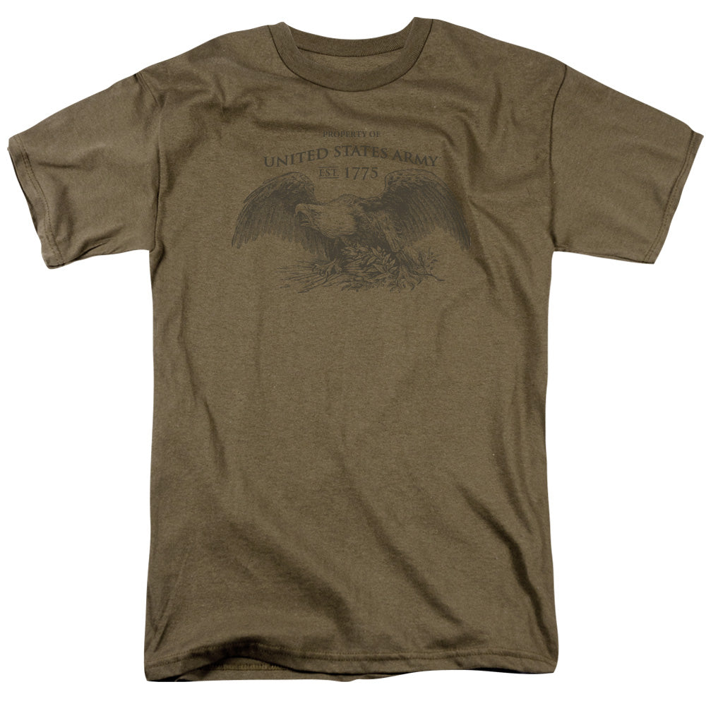 ARMY/PROPERTY OF - S/S ADULT 18/1 - SAFARI GREEN