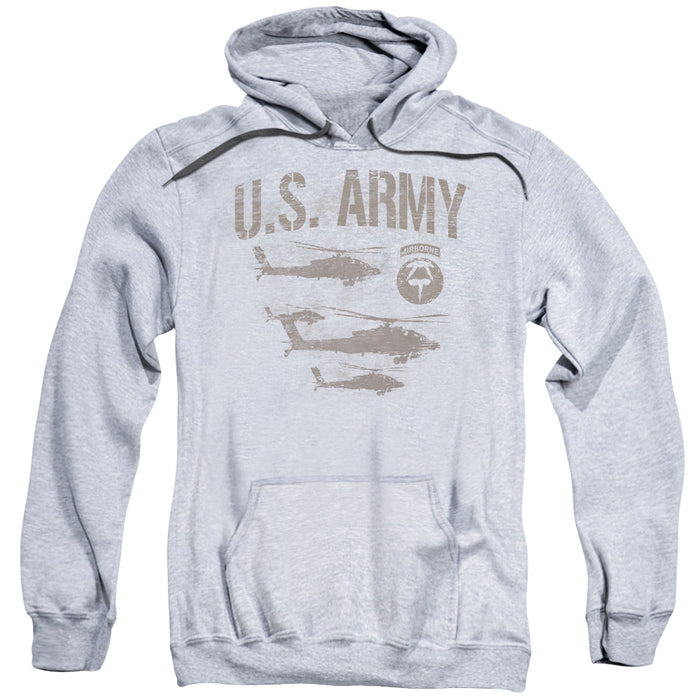 ARMY/AIRBORNE-ADULT PULL-OVER HOODIE-ATHLETIC HEATHER