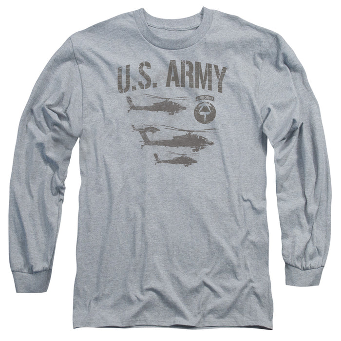 ARMY/AIRBORNE - L/S ADULT 18/1 - ATHLETIC HEATHER