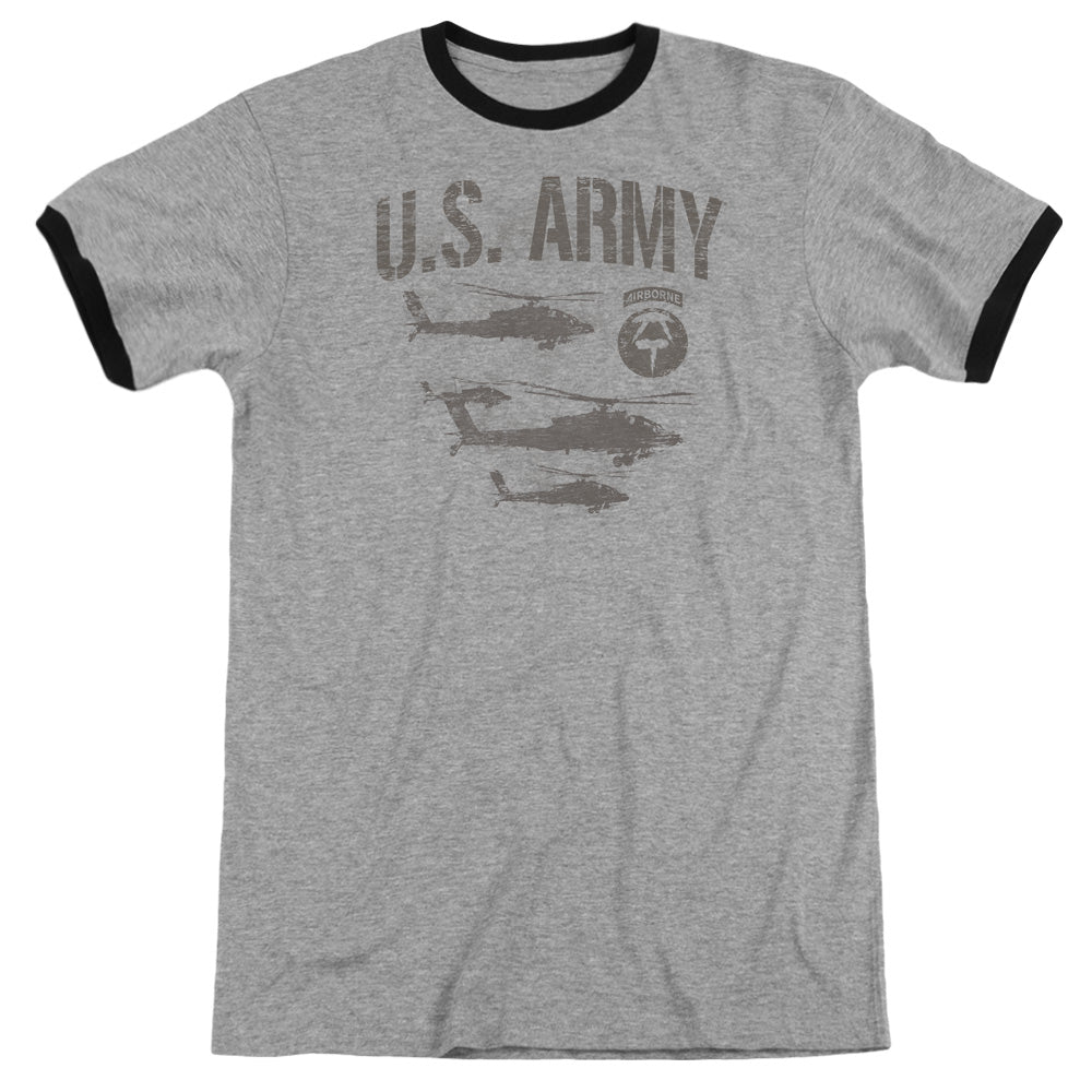 ARMY/AIRBORNE - ADULT RINGER - HEATHER/BLACK