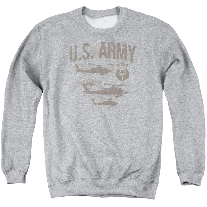 ARMY/AIRBORNE - ADULT CREWNECK SWEATSHIRT - ATHLETIC HEATHER