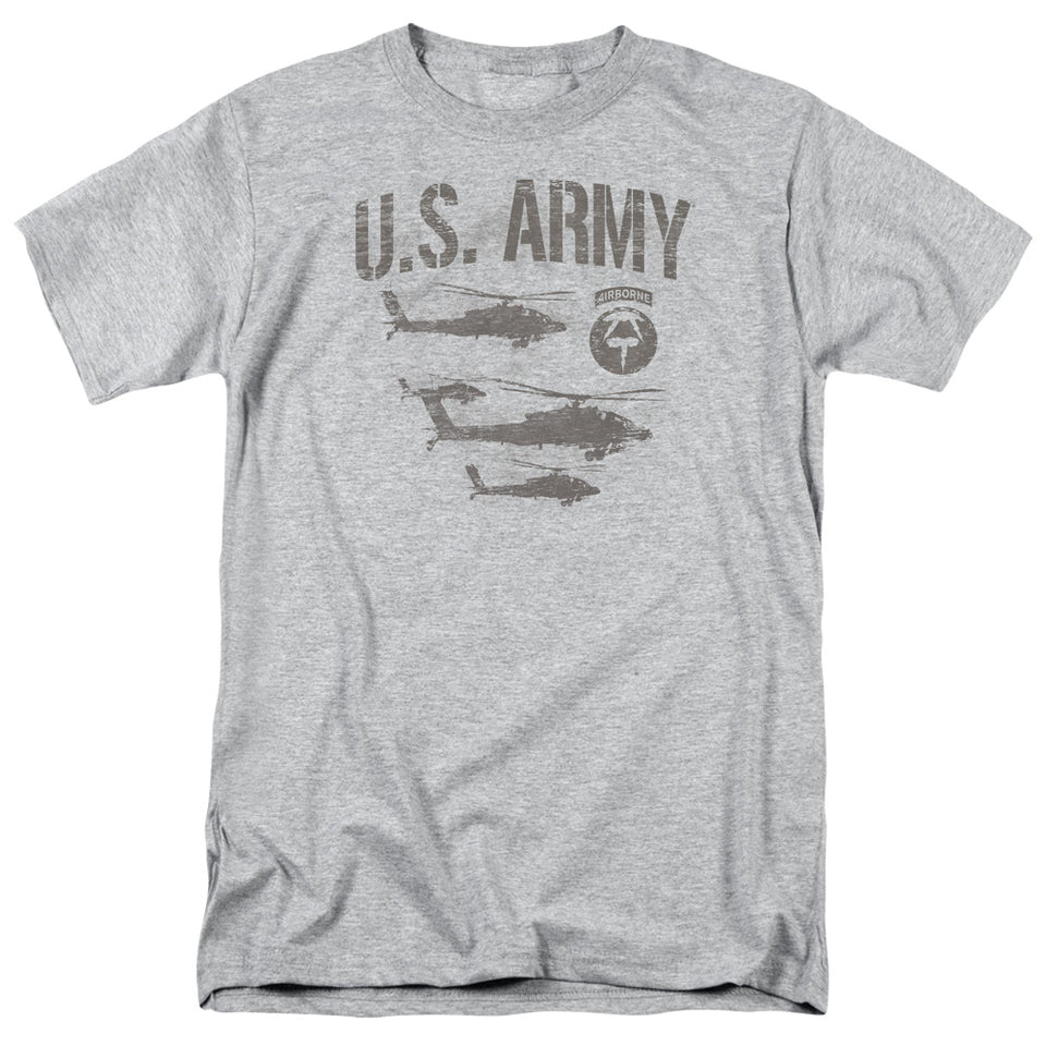 ARMY/AIRBORNE - S/S ADULT 18/1 - ATHLETIC HEATHER
