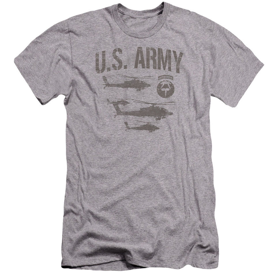 ARMY/AIRBORNE-PREMUIM CANVAS ADULT SLIM FIT 30/1-ATHLETIC HEATHER