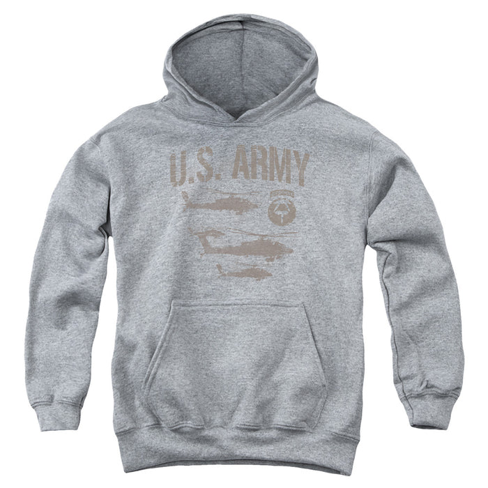 ARMY/AIRBORNE-YOUTH PULL-OVER HOODIE - HEATHER