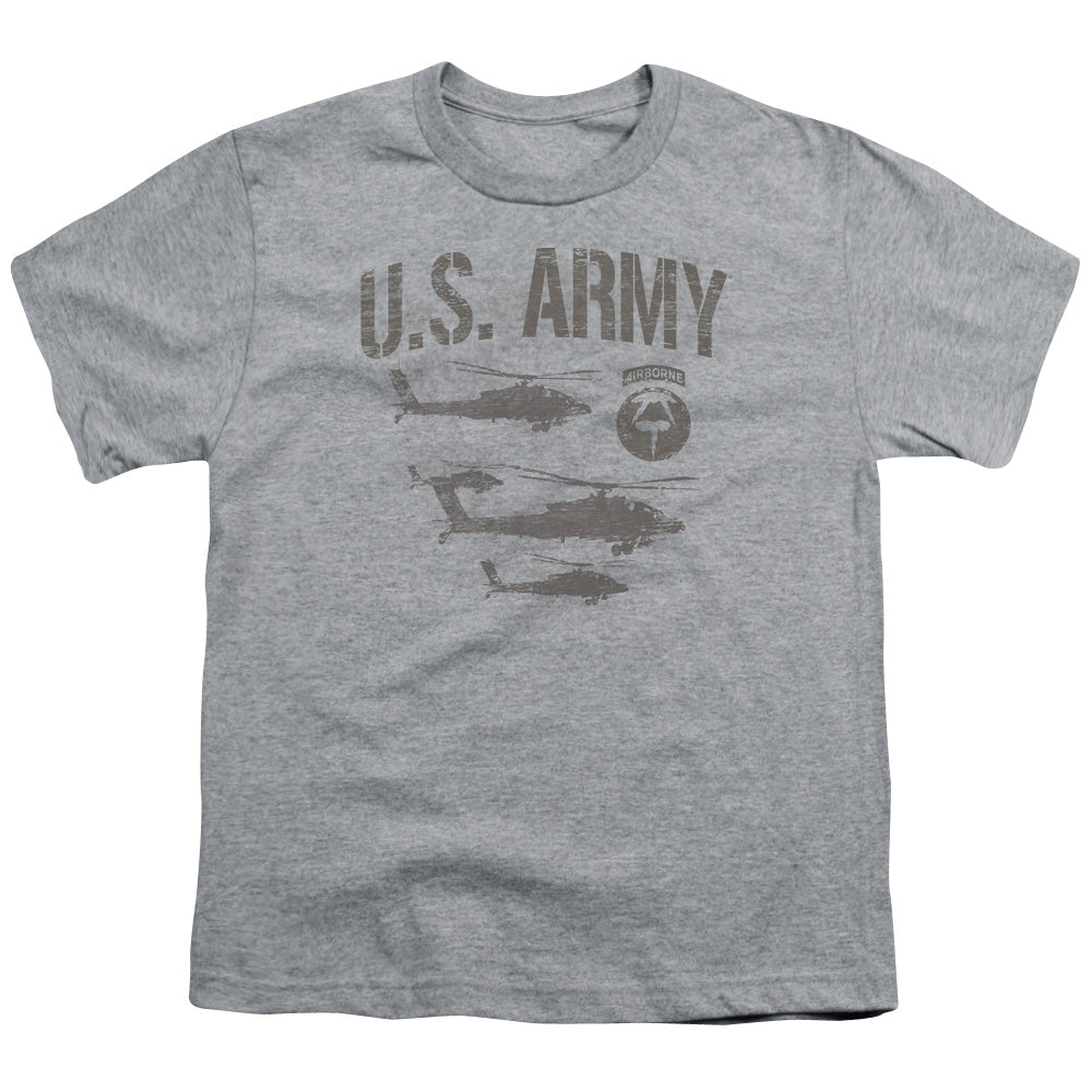 ARMY/AIRBORNE - S/S YOUTH 18/1 - ATHLETIC HEATHER