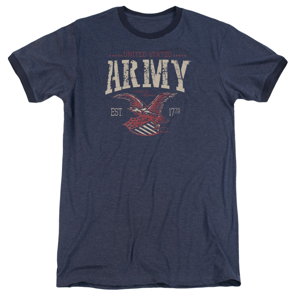 ARMY/ARCH - ADULT HEATHER RINGER - NAVY
