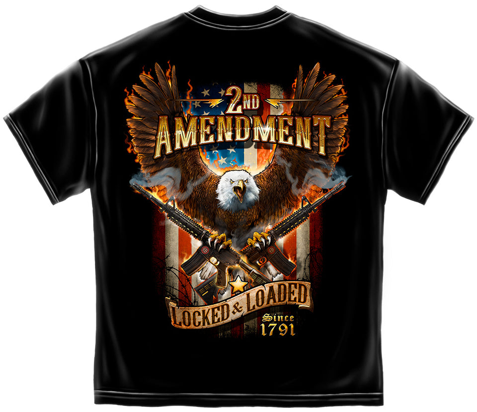 2nd Amendment Attack Eage with Double AR15 Short Sleeve T shirt
