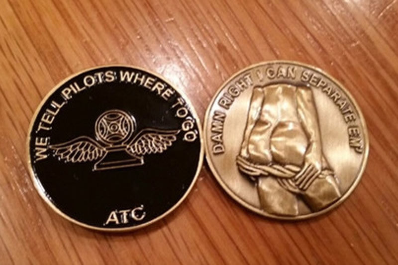 Air Traffic Control Challenge Coin Black Mustang Loot