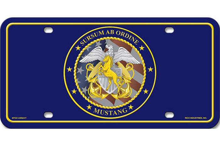 Custom LDO/CWO Mustang License Plate