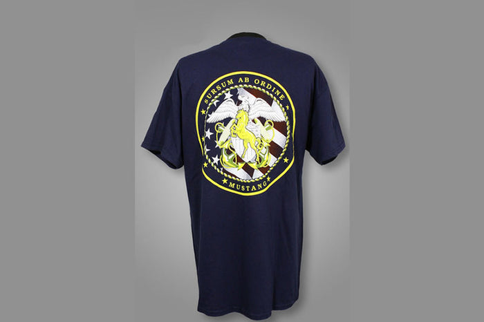 Navy Blue Short Sleeve Mustang T-shirt