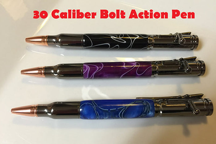 Custom made 30 Caliber Bolt Action Pens *Made to order*