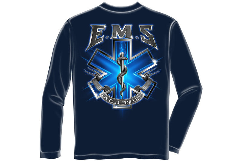 On Call For Life EMS Long Sleeve T-Shirt