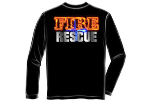 Fire Rescue full front Maltese Long Sleeve T-Shirt