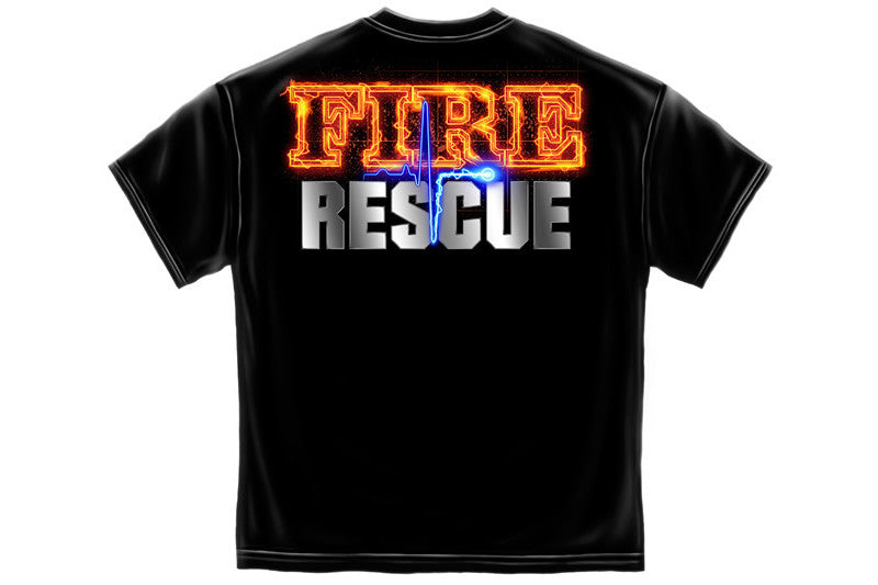 Fire Rescue full front Maltese Short Sleeve T Shirt