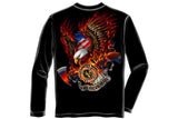 Patriotic fire eagle American Made Long Sleeve T-Shirt