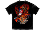 Patriotic fire eagle American Made Short Sleeve T Shirt