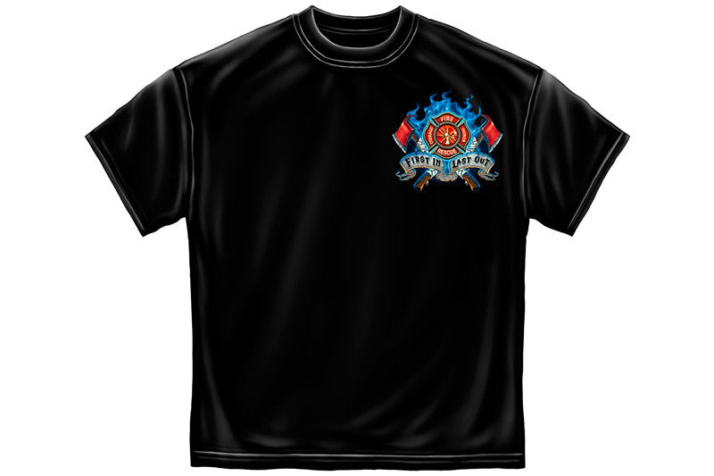 Firefighter Fire Dog First in Last Out Short Sleeve T Shirt