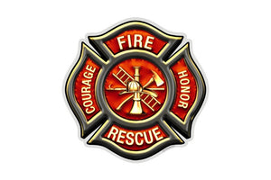 Classic Fire Rescue Maltese Reflective Decal