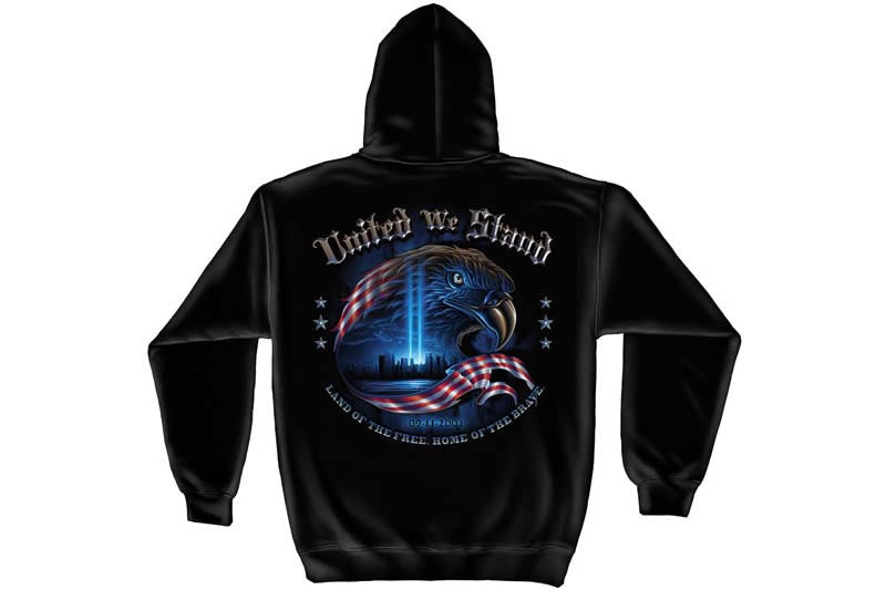 United We Stand, The Home Of The Free 9/11 Hooded Sweatshirt