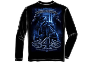 Firefighter 9/11 You Will Never Be Forgotten 343 Long Sleeve T-Shirt