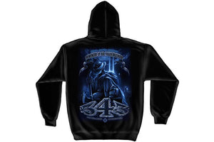 Firefighter You Will Never Be Forgotten 343 Hooded Sweatshirt