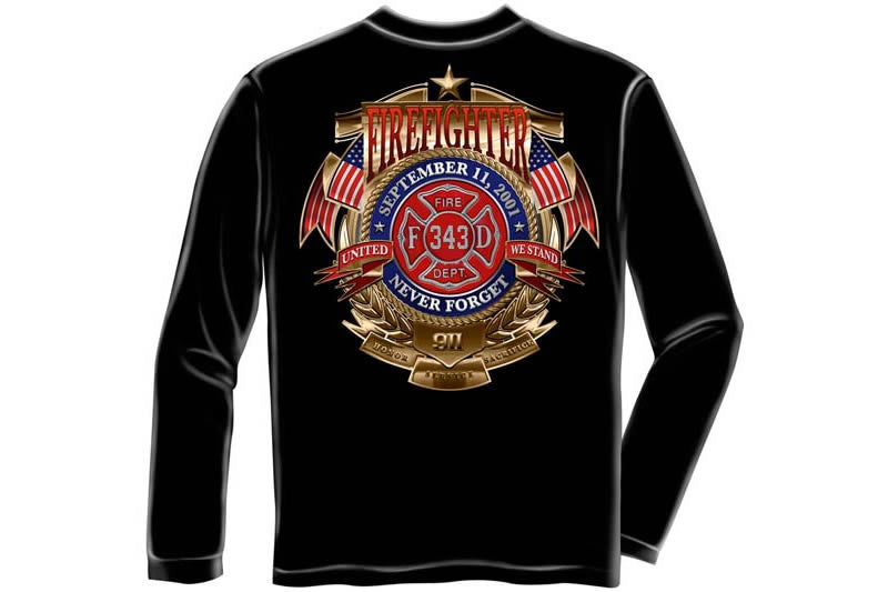 Firefighter Badge Of Honor Long Sleeve T-Shirt