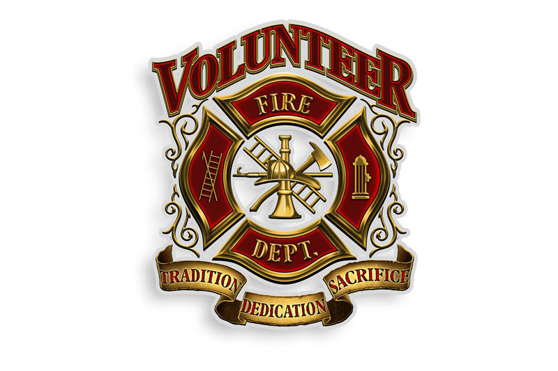 Volunteer Firefighter Fire Department Tradition Dedication Sacrifice Reflective Decal
