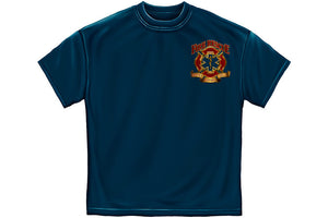Fire Rescue Gold Shield Short Sleeve T Shirt