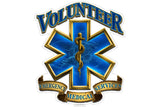 Volunteer Emergency Medical Services EMS Gold Shield Reflective Decal