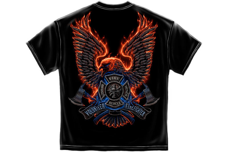 Volunteer Fire Eagle Short Sleeve T Shirt