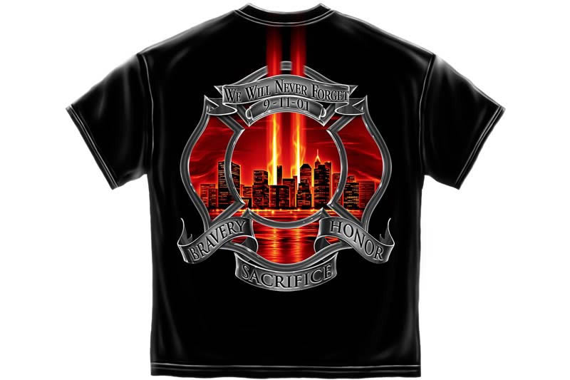 Red High Honor Firefighter Tribute Short Sleeve T Shirt