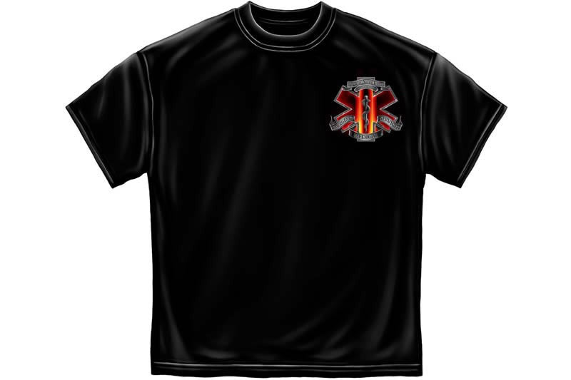 Red High Honor EMS Tribute Short Sleeve T Shirt
