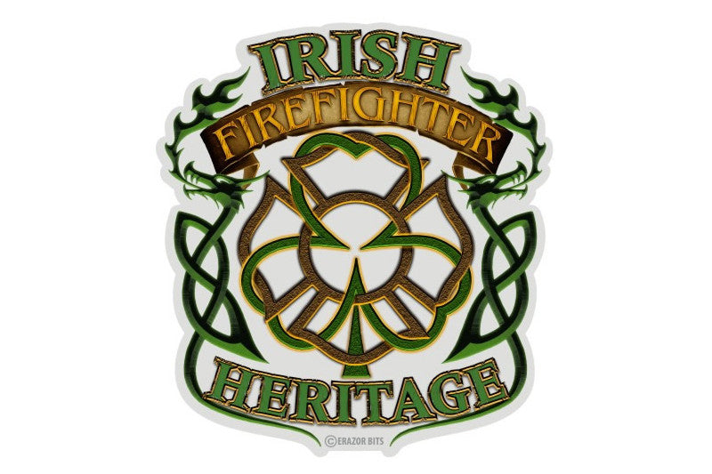 Irish Firefighter Heritage Reflective Decal