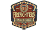 Firefighter Denim Fade, Bottled By America's Bravest Reflective Decal